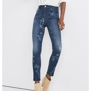Lucky Brand Bridgette Skinny Floral Bleached Jeans